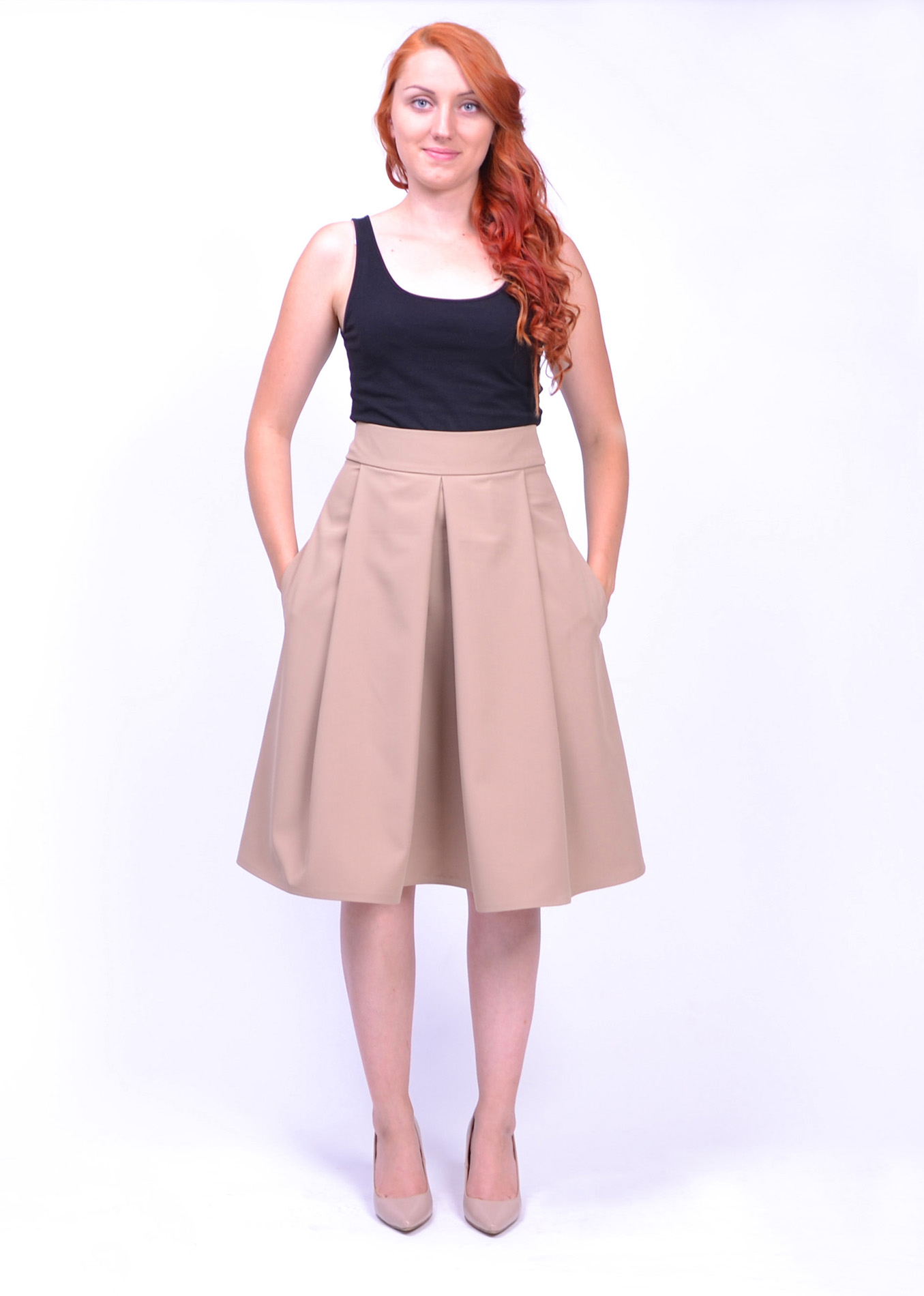 e6393a3abf66 Elegantná hnedá sukňa - SEVERANKA